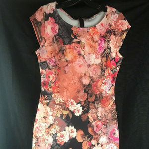 New York and Company Stretch Very Floral Dress S